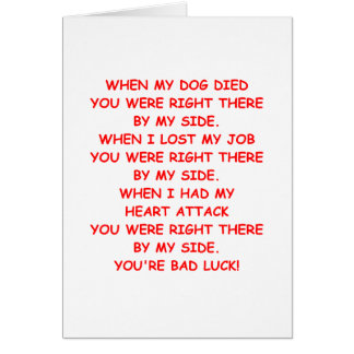bad luck greeting card