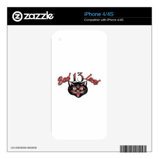 Bad Luck Cat Skin For iPhone 4S