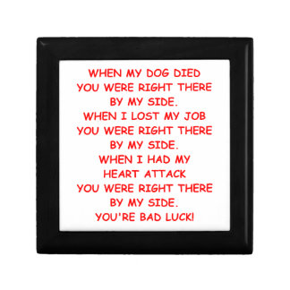 bad luck keepsake box