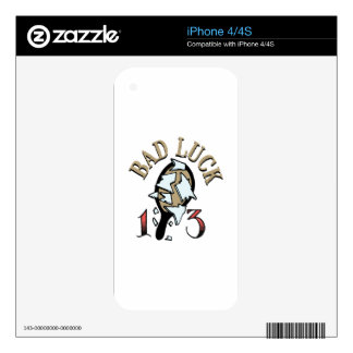Bad Luck Mirror Skins For iPhone 4