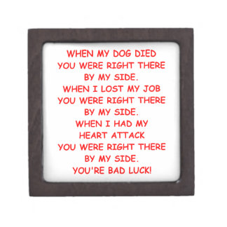 bad luck premium keepsake boxes