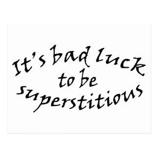 Bad Luck Superstition Postcard