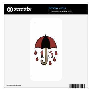 Bad Luck Umbrella Decals For The iPhone 4S
