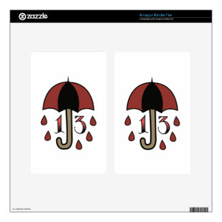 Bad Luck Umbrella Kindle Fire Decal
