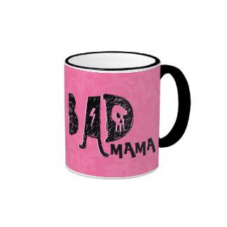 Bad Mama Mug Funny Mother's Day Pink Black V01