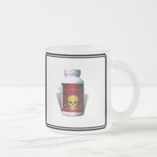 Bad Medicine 10 Oz Frosted Glass Coffee Mug