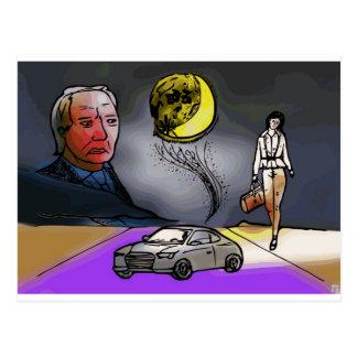 Bad month bad moon postcard