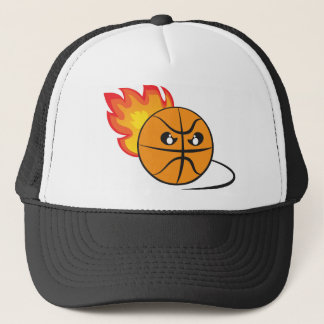 Bad mood basketball ball trucker hat