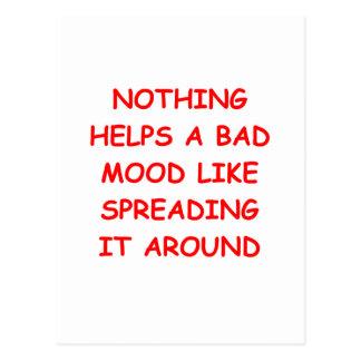 bad mood postcards