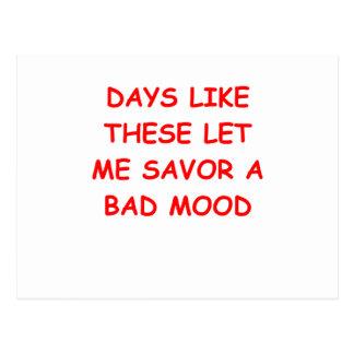 bad mood postcard