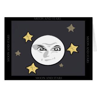 Bad Moon and Stars Rising Card