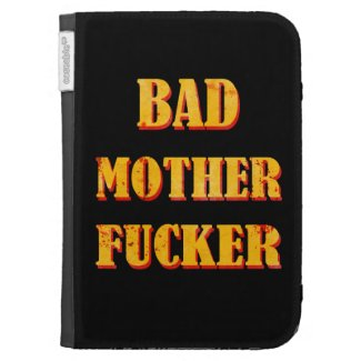 Bad mother fucker blood splattered vintage quote kindle 3 covers