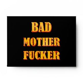 Bad mother fucker blood splattered vintage quote envelopes