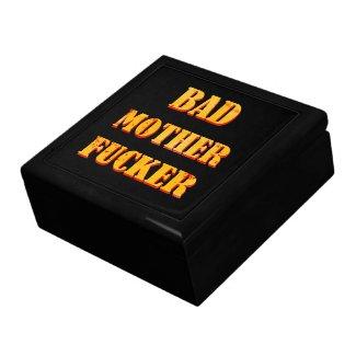Bad mother fucker blood splattered vintage quote keepsake boxes