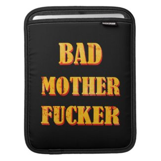Bad mother fucker blood splattered vintage quote iPad sleeves