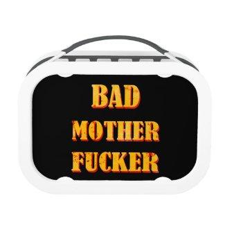 Bad mother fucker blood splattered vintage quote lunchboxes