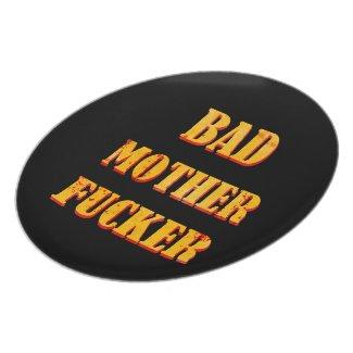 Bad mother fucker blood splattered vintage quote dinner plate