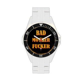 Bad mother fucker blood splattered vintage quote wrist watch
