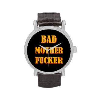 Bad mother fucker blood splattered vintage quote watch