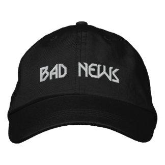 BAD NEWS logo hat Embroidered Baseball Cap
