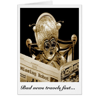 Bad news travels fast card