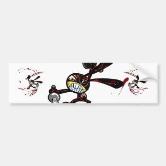 Bad Ninja Bunny Car Bumper Sticker