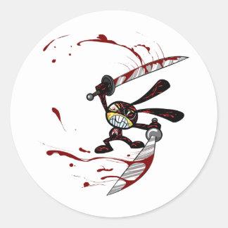Bad Ninja Bunny Classic Round Sticker