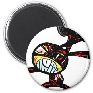 Bad Ninja Bunny Refrigerator Magnet