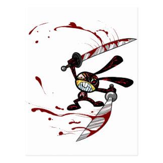Bad Ninja Bunny Postcard