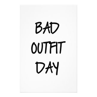 Bad Outfit Day Stationery