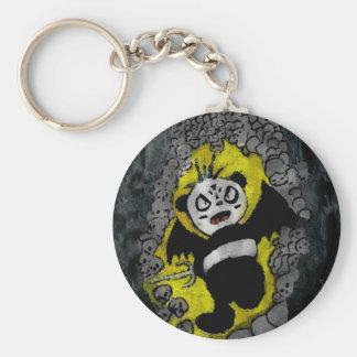 Bad Panda Basic Round Button Keychain