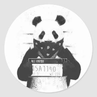 Bad panda classic round sticker