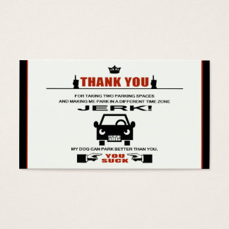 Bad Parking Business Card
