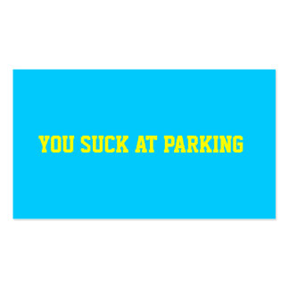 Bad Parking Business Cards