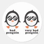 bad penguin - Pinguin Runde Aufkleber