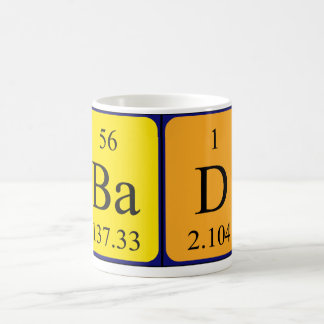 Bad periodic table name mug