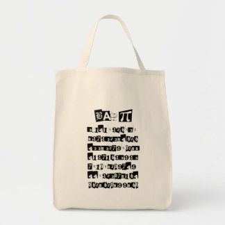 Bad Pi - incorrect Grocery Tote Bag