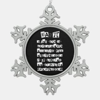 Bad Pi - incorrect Snowflake Pewter Christmas Ornament