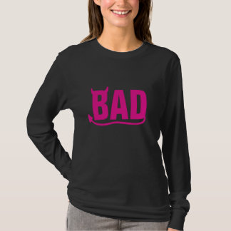 """Bad """"Pink"""" with Devil's Horn and Tail T-Shirt"""