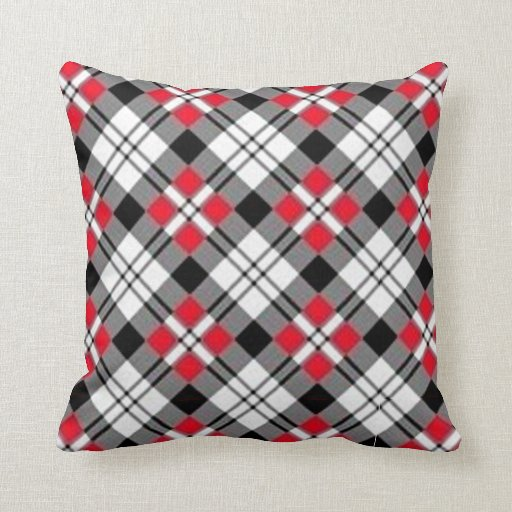 Bad Plaid Pillow no 1