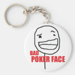 Bad Poker Face Basic Round Button Keychain