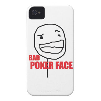 Bad Poker Face iPhone 4 Cover