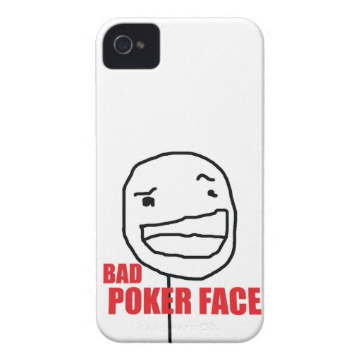 Bad Poker Face iPhone 4 Covers