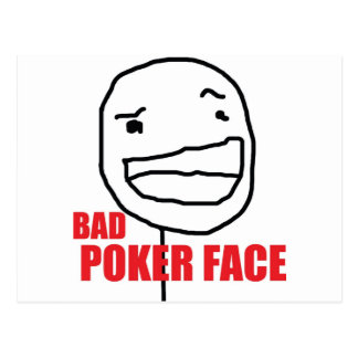 Bad Poker Face Postcard