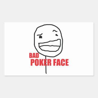 Bad Poker Face Rectangular Sticker