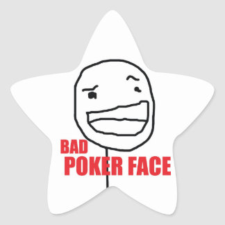 Bad Poker Face Star Sticker