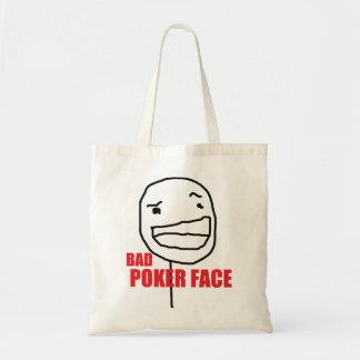 Bad Poker Face Tote Bag