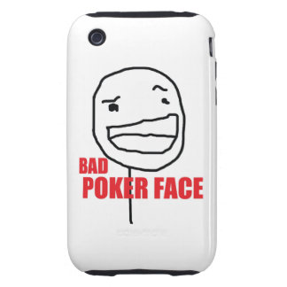 Bad Poker Face Tough iPhone 3 Cover