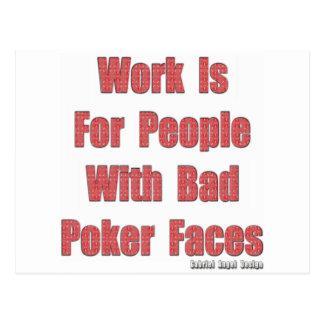 Bad Poker Faces Postcard