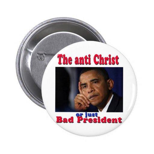 bad pres pinback button